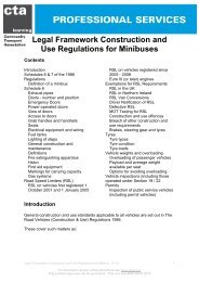 Legal Framework Construction and Use Regulations for Minibuses