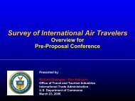 Survey of International Air Travelers - Office of Travel and Tourism ...