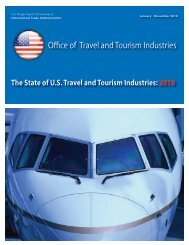 The State of US Travel and Tourism: 2010 - Office of Travel and ...