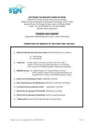 tender document - Software Technology Park of India, Noida - Stpi