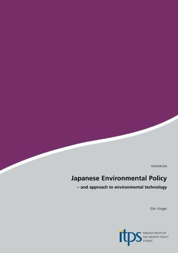 Japanese Environmental Policy
