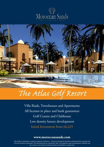 The Atlas Golf Resort - Morocco Property