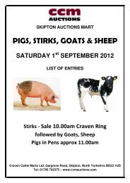 PIGS, STIRKS, GOATS & SHEEP - CCM Auctions