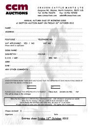 Entries close Friday 12th October 2012 - CCM Auctions