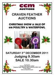 CRAVEN FEATHER AUCTIONS Judging 9.30am ... - CCM Auctions