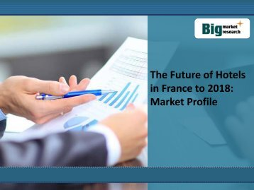 The Future of Hotels in France to 2018: Market Profile