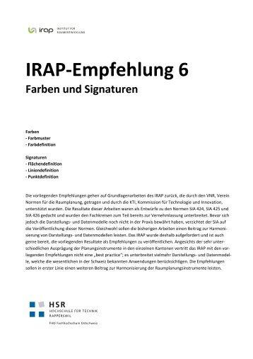 IRAP-Empfehlung 6 Farben und Signaturen