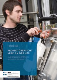 hsr forschungsuebersicht 2011 - HSR Hochschule für Technik ...