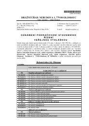 Rekonstrukce žst. Olomouc - zahájení stavebního řízení - Drážní úřad