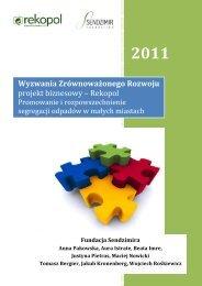 raport PL strona 1-10 - Fundacja Sendzimira