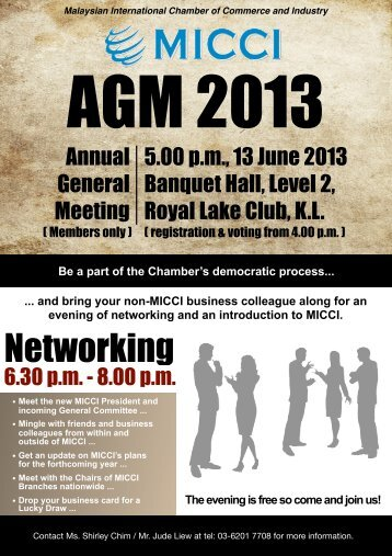 Networking - Malaysian International Chamber of Commerce and ...