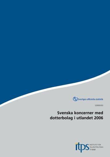 Svenska koncerner med dotterbolag i utlandet 2006