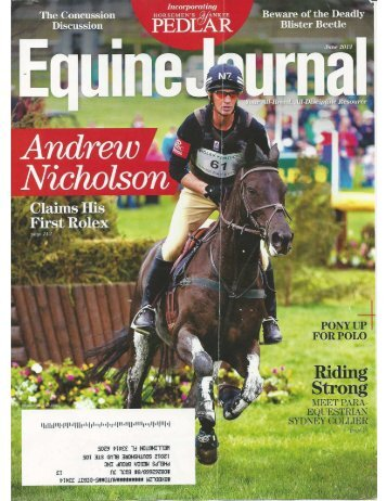 Equine Journal - June 2013 - Phelps Media Group