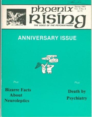 Vol. 3, No. 4 - Psychiatric Survivor Archives of Toronto