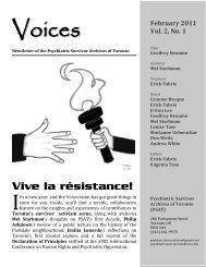 Voices - Psychiatric Survivor Archives of Toronto