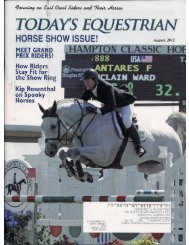 Today's Equestrian - August 2012 - Phelps Media Group