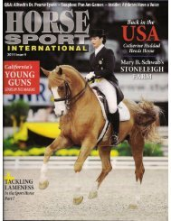 Horse Sport International - Issue 4, 2011 - Phelps Media Group