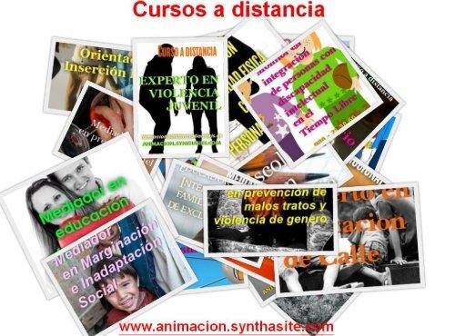 Catalogo Cursos para educadores, trabajadores sociales, maestros