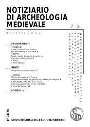 notiziario di archeologia medievale iscum istituto di storia della ...