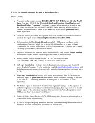 Circular for Simplification and Revision of Softex Procedure ... - STPI