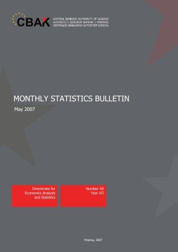 Monthly Statistics Bulletin 01 May 2007