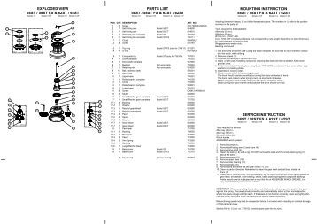 Barlow (and Barient) Winches Specifications, Parts Lists