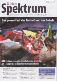 Idea Spektrum - Gebet für die Schweiz
