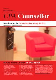 CPA Section for Counselling Psychology