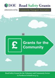 To download a Road Safety Grant Information Leaflet click here