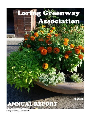 2012 Annual Report - Loring Greenway Association