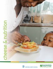 cheese & nutrition - National Dairy Council