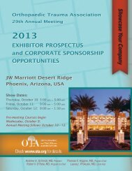 2013 Exhibitor Prospectus - Orthopaedic Trauma Association