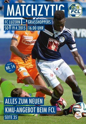 FC LUZERN Matchzytig N°14 14/15 (RSL 28)