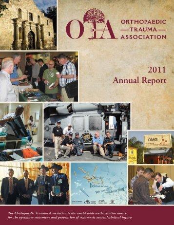 2011 OTA Annual Report - Orthopaedic Trauma Association
