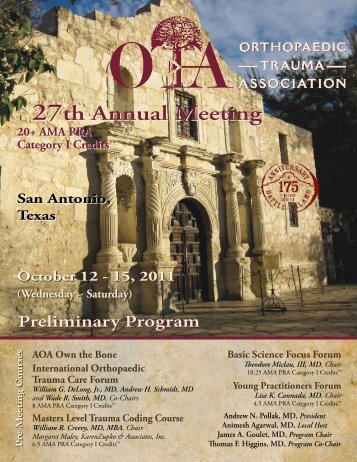 Preliminary Program - Orthopaedic Trauma Association