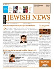 Jewish Book Festival returns to Ann Arbor November 1-14 Dr. Judea ...