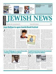 Joan Nathan to open Jewish Book Festival - Washtenaw Jewish News