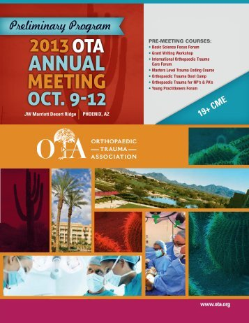 Preliminary Program 19+ CMe - Orthopaedic Trauma Association