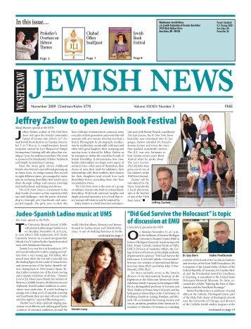 Jeffrey Zaslow to open Jewish Book Festival - Washtenaw Jewish ...