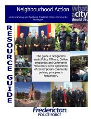 Neighbourhood Action Resource Guide - Fredericton