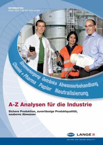 A-Z Analysen für die Industrie - Hach Lange