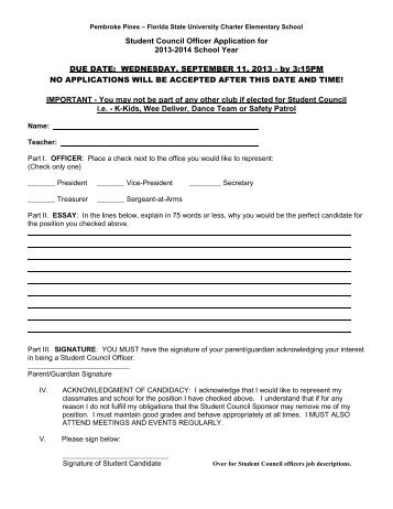 lsus university center office student worker application student council officer application