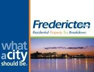 Residential Property Tax Breakdown 2008 (pdf) - Fredericton