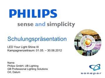 Schulungspräsentation - Led your light shine DE