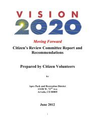 Vision 2020 Board Report 2012.pdf - Apex Park and Recreation ...