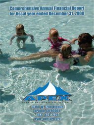 2008 Comprehensive Annual Financial Report - Apex Park and ...