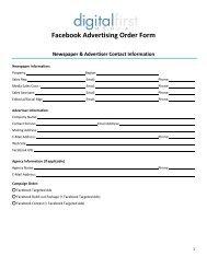 Facebook Advertising Order Form - Boulder Daily Camera