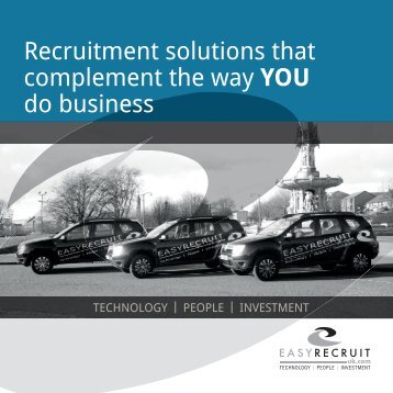 Recruitment solutions that complement the way YOU do business