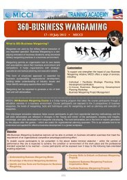 Business Wargaming - Malaysian International Chamber of ...