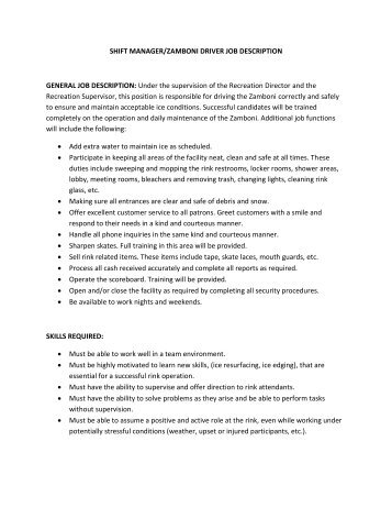 supervisor job description template 10 free word excel pdf